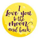 "Toalla redonda ""I love you to the moon and back"" 150 x 150 cm"