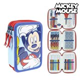 Plumier Triple Giotto Mickey Mouse Azul (43 Pcs)